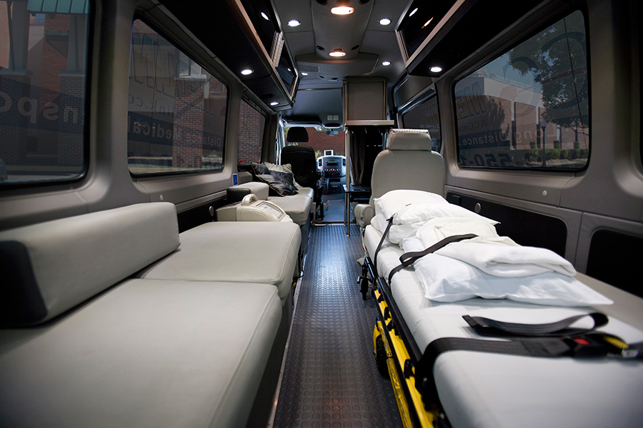 Amenities for medical transportation